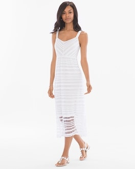 Sleeveless Burnout Midi Tank Dress
