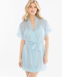 Shimmer Chiffon Sheer Wrap Robe