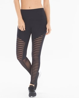 Onzie Fierce Striped Mesh Leggings