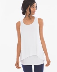 Soft Jersey Layered Tank Tunic