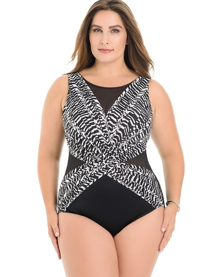 Plus Size Between the Pleats Palma One Piece Swimsuit