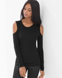X by Gottex Cold Shoulder Long Sleeve Top
