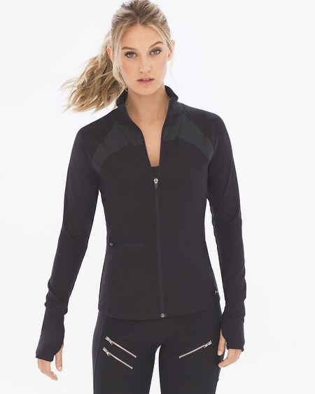 Zip Jacket with Leatherette