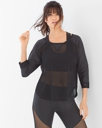 X by Gottex Raglan Mesh Sport Top