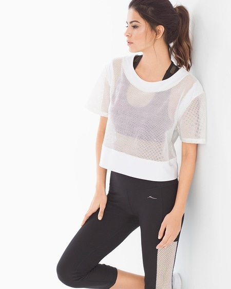 Diamond Mesh Short Sleeve Sport Top