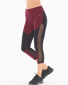 X by Gottex Diamond Mesh Blocked Sport Capri Pants