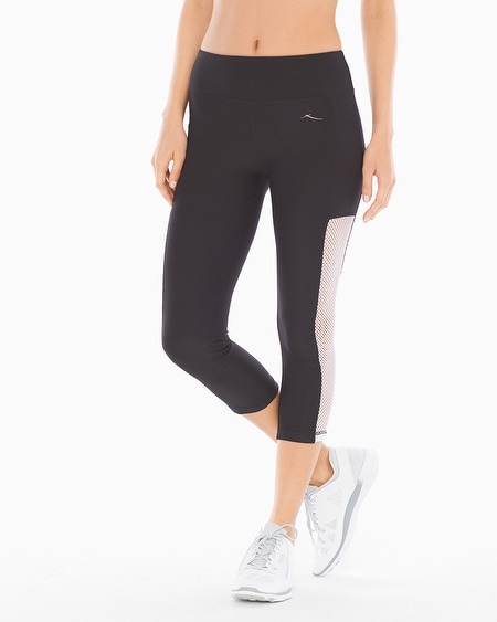 Diamond Mesh Capri Sport Pants