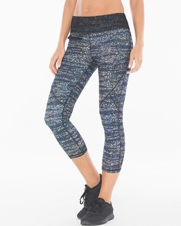 X by Gottex Diamond Mesh Zip Pocket Sport Capri Pants