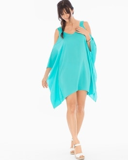 Elan Cold Shoulder Cover Up Swing Dress