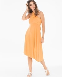 Elan 8 Way Convertible Cover Up Dress Tangerine