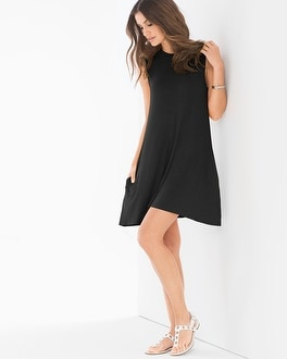 Elan High Neck T-Shirt Dress