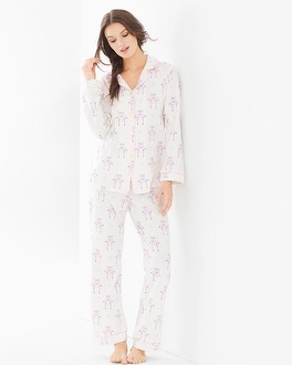 BedHead Cotton Blend Knit Classics PJ Set  Flamingos