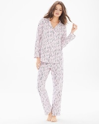 BedHead Cotton Blend Knit Classics Pajama Set Spoons