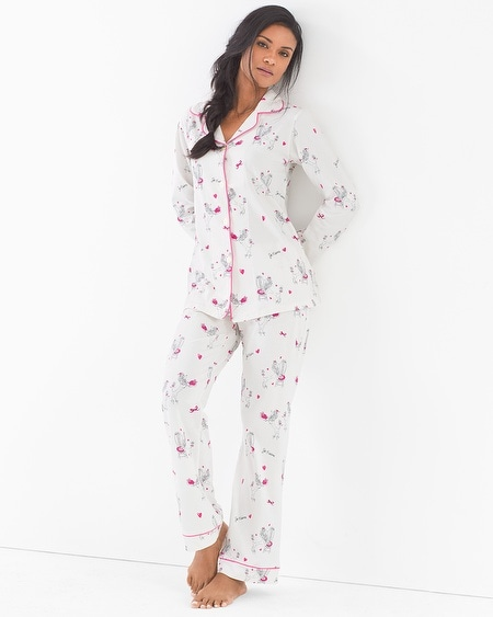 Cotton Blend Knit Classics Pajama Set Poodles