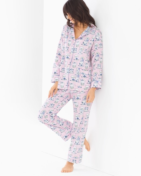 Woven Cotton Classic Pajama Set Teacups