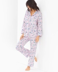 BedHead Woven Cotton Classic Pajama Set Teacups