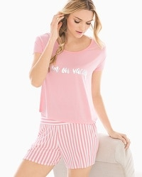 Cool Nights Boxy Pajama Tee On Vacay Pink Foil