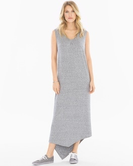 X by Gottex Shoulder Wrap Angled Hem Dress