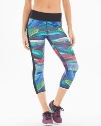 X by Gottex Printed Capri Sports Leggings