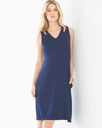 Soft Jersey Double Strap Short Dress