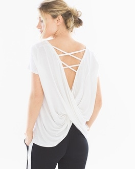 X by Gottex Back Wrap Short Sleeve T-Shirt