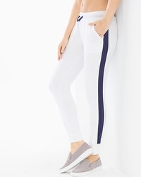 X by Gottex Cotton Blend French Terry Pants