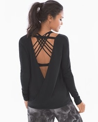 Onzie Long Sleeve Drape Back Top