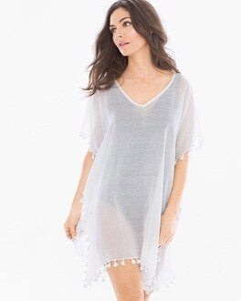 Elan Cover Up Tassel Poncho