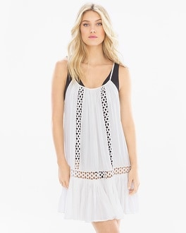 Elan Spaghetti Strap Crochet Coverup Dress