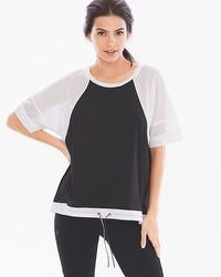 MSP by Miraclesuit Mesh Sport Crewneck Top