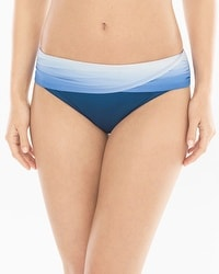 Bleu Rod Beattie Hola Ombré Sarong Hipster Swim Bottom
