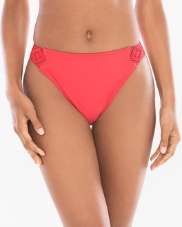 Profile by Gottex Java Macrame Side Tab Hipster Swim Bottom