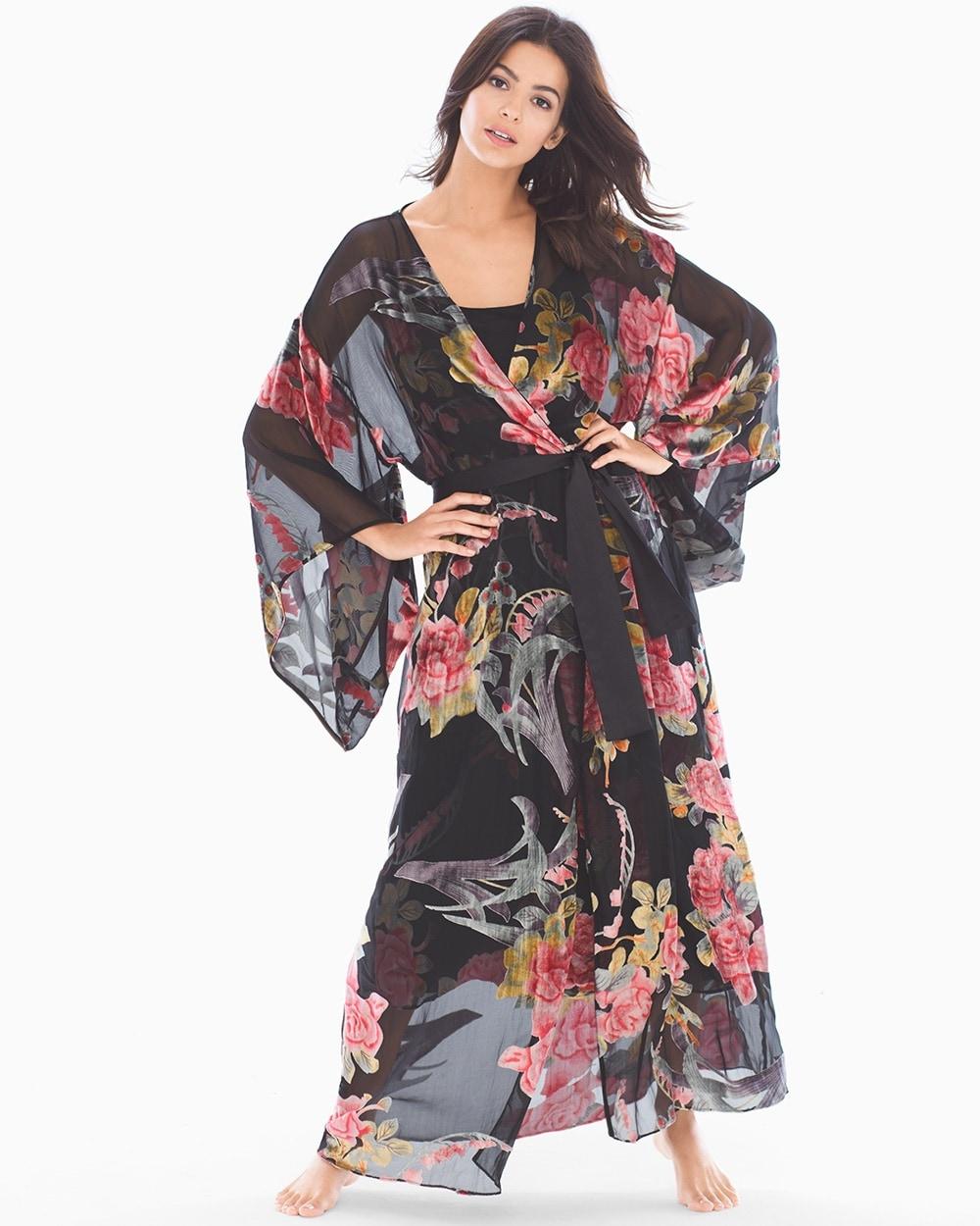 Velvet Burnout Long Robe - Soma 458a2318f