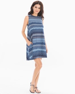 Elan High Neck Short Dress
