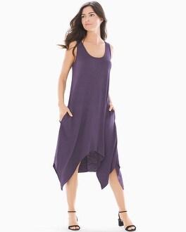 Scarf Hem Midi Sleeveless Dress Nightshade by Soft Slub Terry