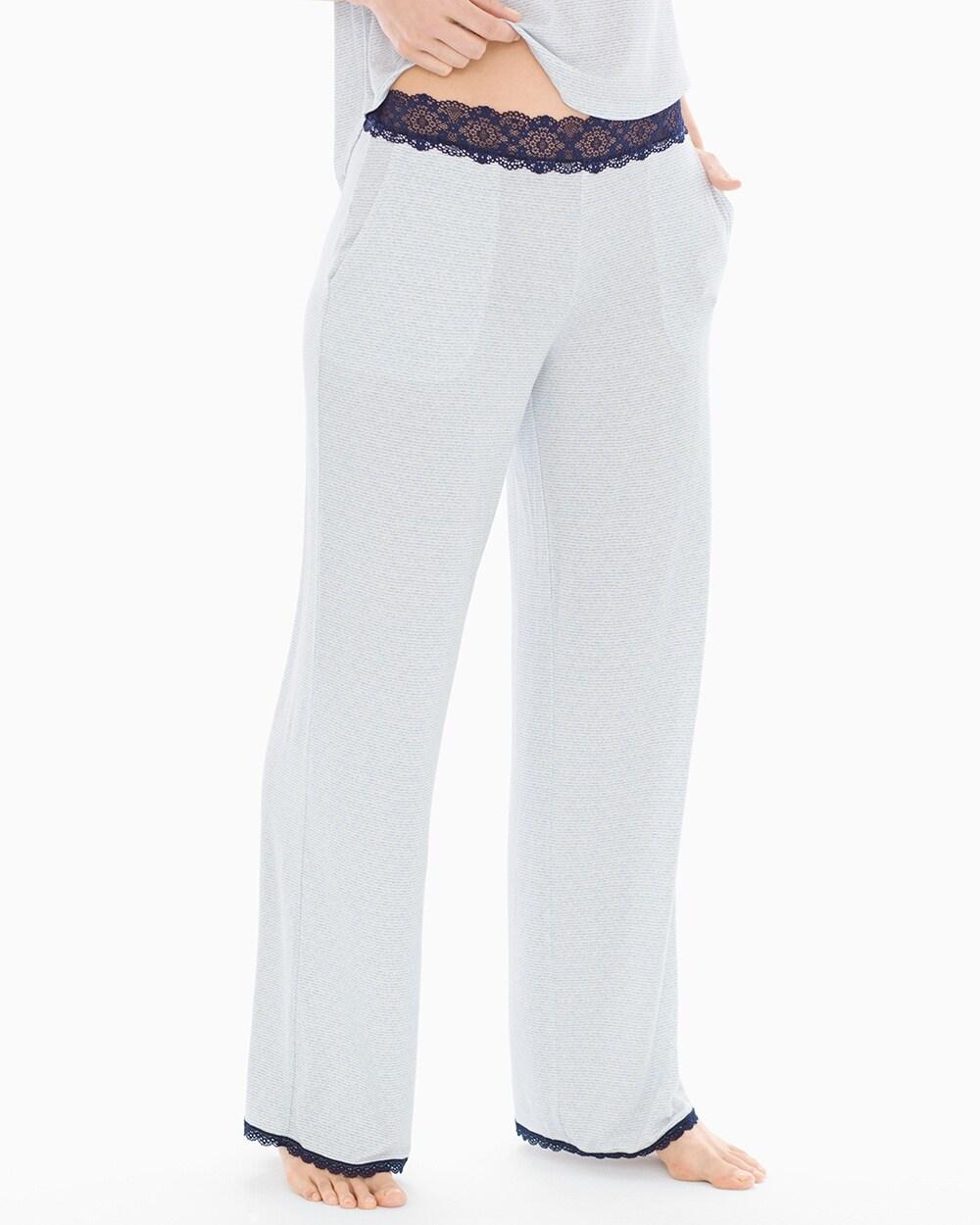 55a7fc5590e79e Lace Trim Pajama Pants - Soma