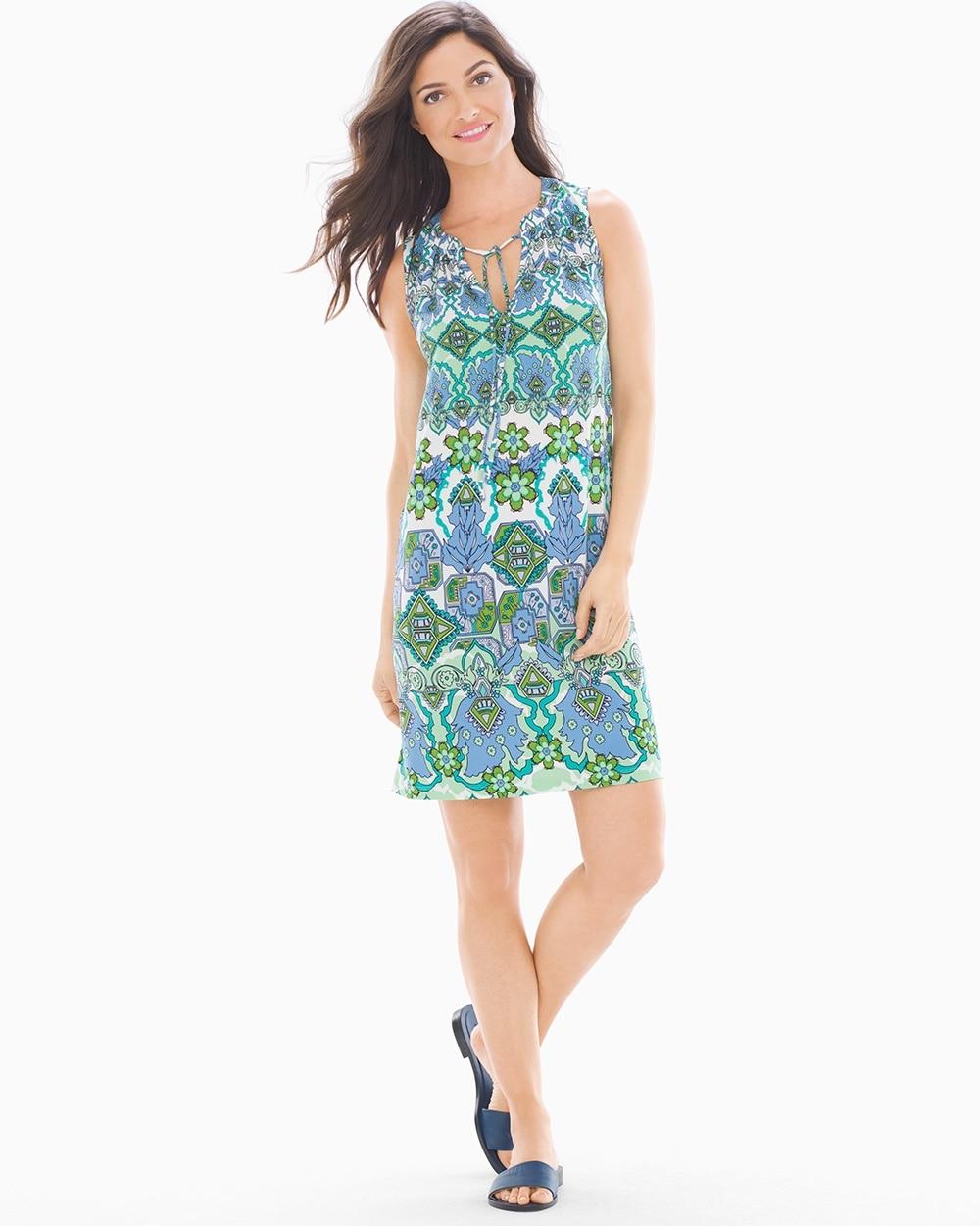 c2ec63947fab London Times Collar Shirred Dress - Soma
