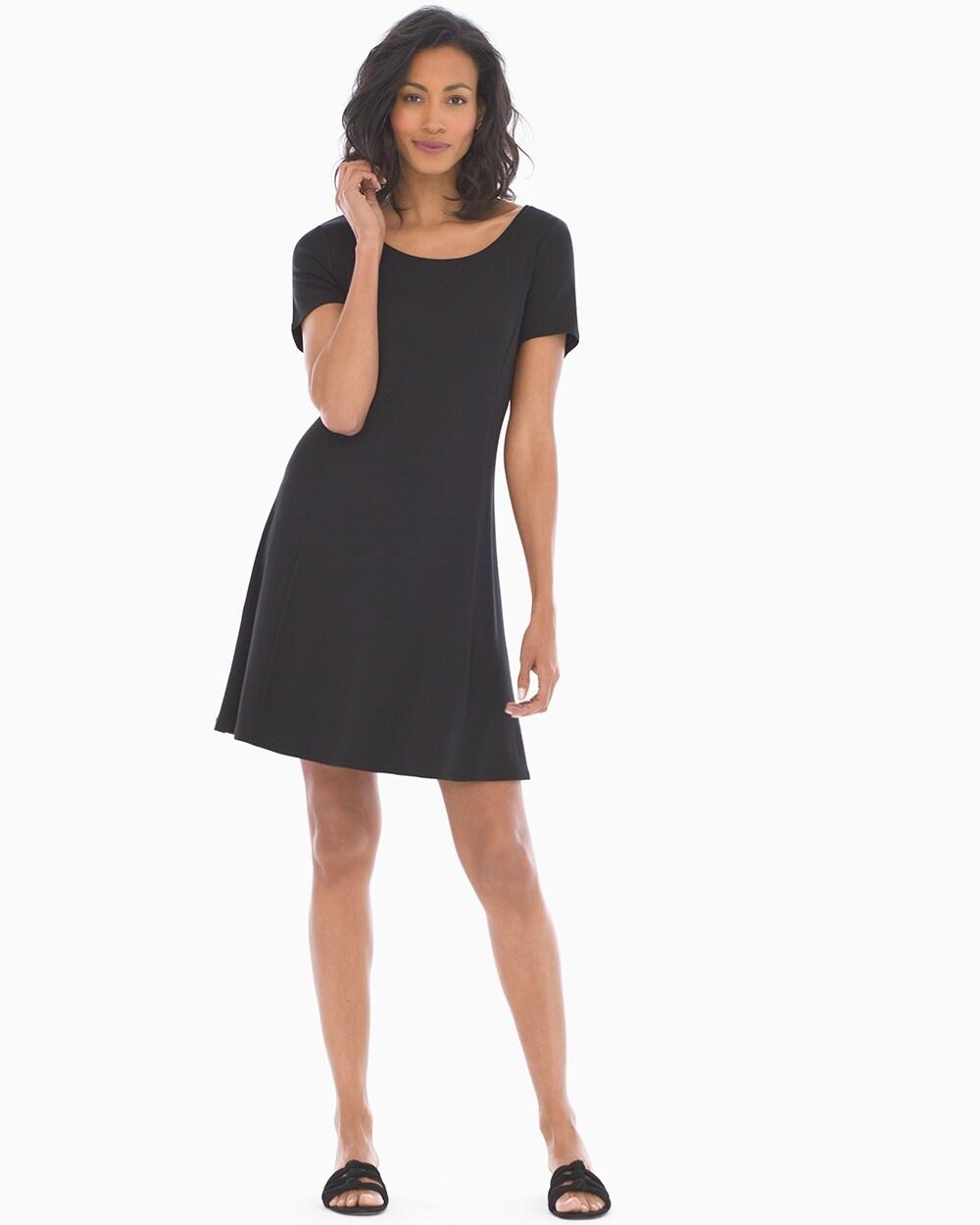 4a6795e4a3f75 Trapeze Dress Black - Soma