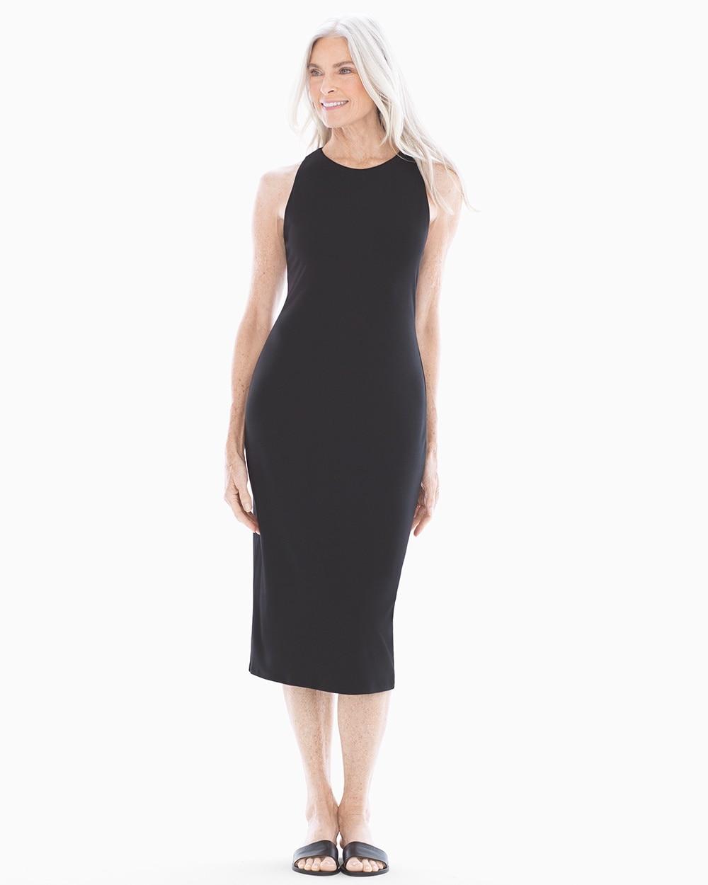 Lace Up Back Sleeveless Midi Dress Soma
