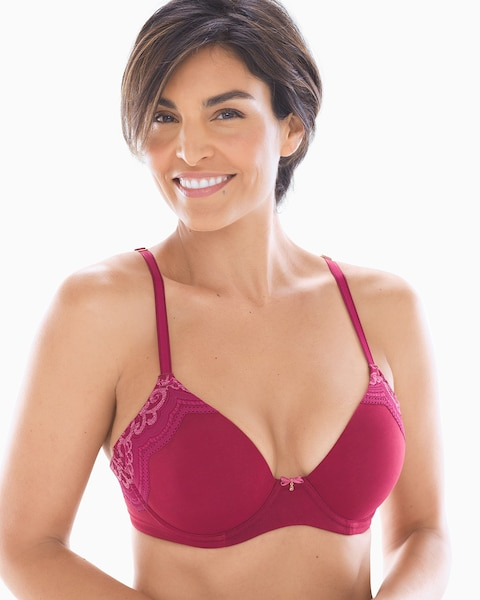 Full Coverage Heather Lace Trim Bra - Soma c2bc6d1f9