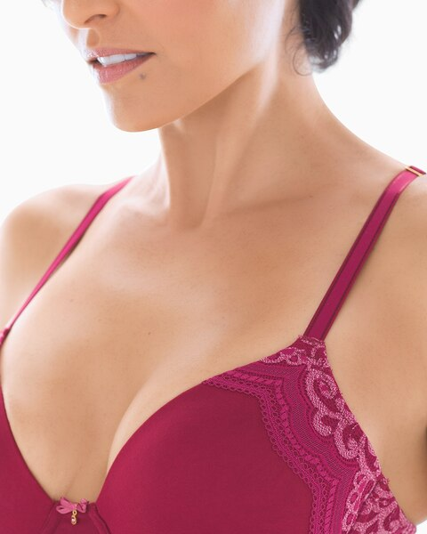 Return to thumbnail image selection Full Coverage Heather Lace Trim Bra 1a77d88b4