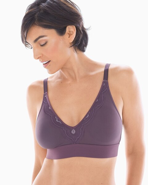 Wireless Unlined Heather Lace Trim Bra - Soma 7c4df1063
