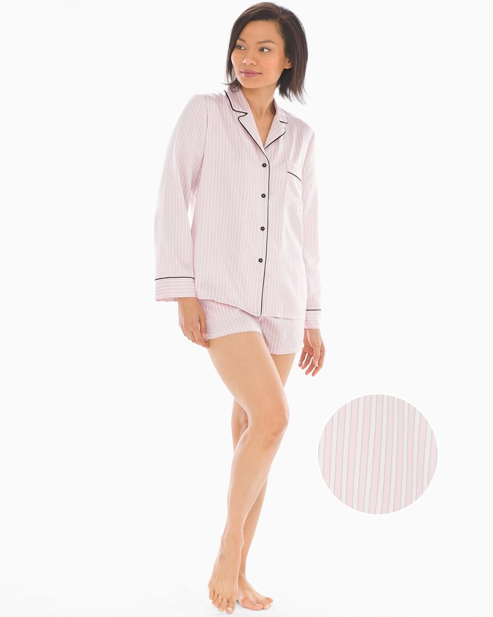 19a4d4eaa Look of Love Satin Shorts Stripe Pajama Set - Soma