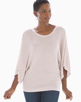 Shine Cotton Blend Kimono Sleeve Sweater Heather Blossom by