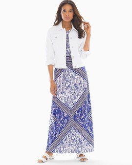 bedaed1c6b6f Maggy London Paisley Printed Keyhole Maxi Dress