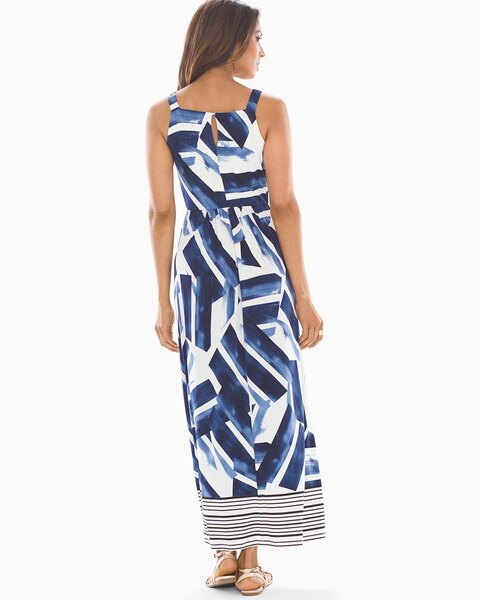d46f22854b Geo Print Maxi Dress Blue/White - Soma