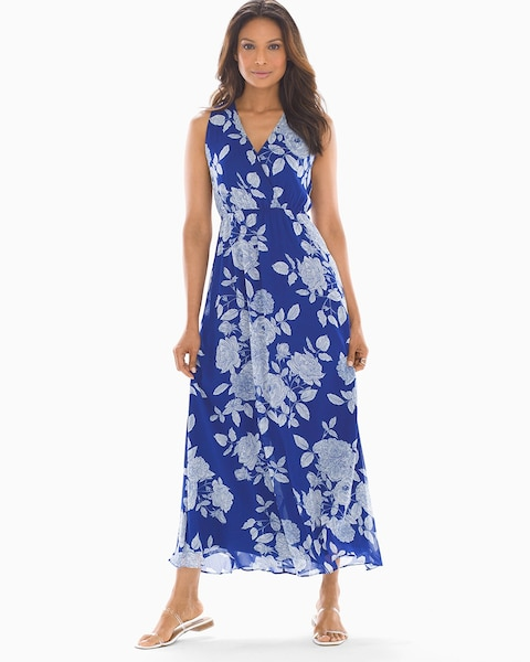 ac0b36ef65 Blooms Maxi Dress Blue - Soma