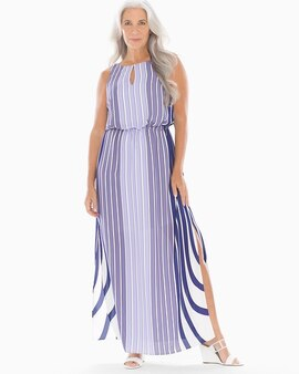 90732f2dca6 Adrianna Papell Mixed Stripe Maxi Dress Purple Multi