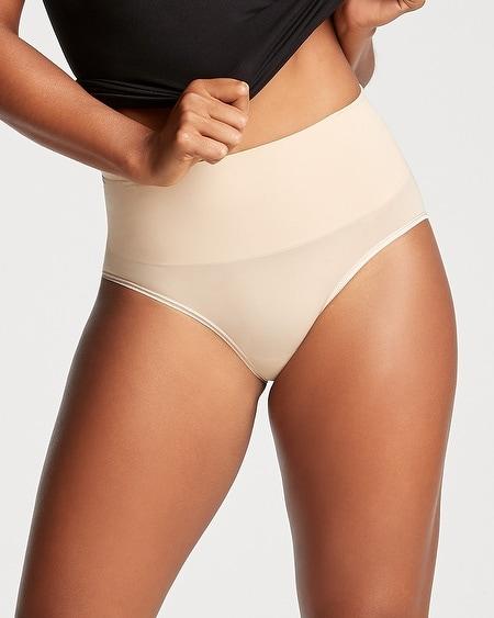 L YUMMIE Shape Seamless Shaping Thong Panty Set Purple// Grey NEW Womens M