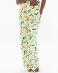 Cool Nights Pajama Pants Lemon Citrus Ivory